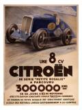Citroen 8cv Petite Rosalie Giclée-Druck
