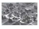 Carmarthen County Lunatic Asylum, South Wales Giclee Print by Peter Higginbotham