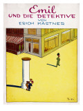 Cover Illustration of the Original Edition of Emil Und Die Detektive Giclée-tryk