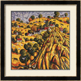 GOLDEN HARVEST Limited Edition Framed Print by CHARLES MONTEITH WALKER