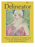 Delineator Cover July 1927 Giclee Print