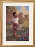 Child with Watering Can Posters por Tim Ashkar