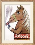 Rossli Cigars Framed Giclee Print by Herbert Leupin
