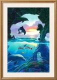 Seven Dolphins Print by Jim Warren