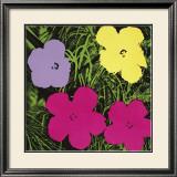 Flores, cerca de 1970 (1 roxo, c.1 amarelo, 2 rosa) Posters por Andy Warhol