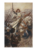 Joan of Arc at Orleans Giclée-tryk