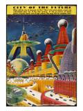 Future City 1942 Giclée-tryk
