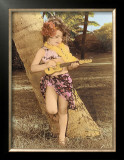 Ukulele Girl Framed Giclee Print by  Himani