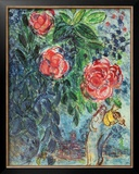 Flowers and Lovers Posters by Marc Chagall