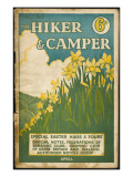 Hiker and Camper Magazine Giclee Print