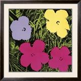 Flores, cerca de 1970 (1 roxo, c.1 amarelo, 2 rosa) Pôsters por Andy Warhol