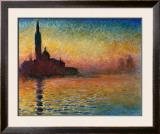 Pôr do Sol em Veneza Arte por Claude Monet