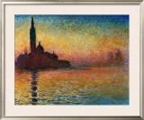 Pôr do Sol em Veneza Pôsters por Claude Monet