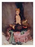 Miss Muffet Reproduction procédé giclée par David Wright
