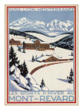 Poster for Winter-Sporting at Mont- Revard, in the French Alps Lámina giclée