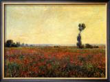 Poppy Landscape Impressão giclée emoldurada por Claude Monet