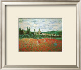 Field of Poppies at Giverny Posters por Claude Monet