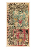 Part of a Calendar Used by Maya Priests, Depicting Gods and Symbolic Creatures Lámina giclée