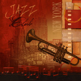Jazz Club Print by Conrad Knutsen
