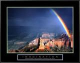 Imagination: Mountain with Rainbow Prints