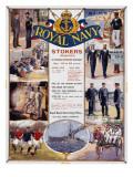 Royal Navy Recruitment Poster Giclée-Druck