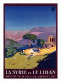 Syria and Lebanon Holiday Poster Lámina giclée