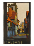 St Albans, Hertfordshire: French Row Lámina giclée