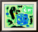 Komposition in Grun, c.1954 Posters por Willi Baumeister