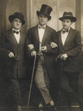 A Group of Three Transvestites Reproduction photographique