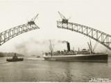 Sydney Harbour Bridge, Australia - Construction Fotoprint