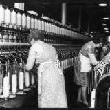 Women Working in a Cotton Mill Photographic Print by Henry Grant