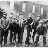 Working Class Children Playing Together in Sheffield Photographic Print by Henry Grant
