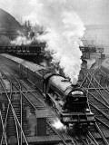 The Flying Scotsman, Pulling Out of Kings Cross Lámina fotográfica