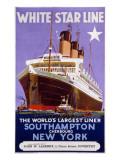 White Star Line Poster Lámina giclée