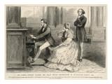 Felix Mendelssohn Listens to Prince Albert Play the Organ Giclee Print