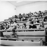 Students in a Lecture Theatre at Warwick University, Coventry Photographic Print by Henry Grant