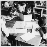 Walter Halls Primary School, Nottingham Children Reading, Writing and Drawing Photographic Print by Henry Grant