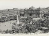 The Place D'Armes and the Town Hall at Oran, Algeria Lámina fotográfica