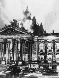 The Burning of the Reichstag in Berlin, Germany in 1933 Photographic Print by Robert Hunt