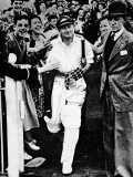 Don Bradman Going Out to Bat for the Last Time Photographic Print