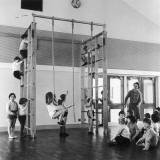 Gym Class in Progress Photographic Print by Henry Grant