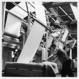 Finishing : Pulling Down Cloth at James Chadwick and Co, Lancashire Photographic Print by Henry Grant