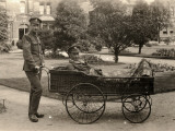 Patient on Trolley at Reading War Hospital, Berkshire Photographic Print by Peter Higginbotham