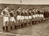 Manchester United Team before the Air Disaster at Munich Reproduction photographique