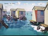 Ostend Bathing Machines Fotografie-Druck