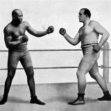Jack Johnson and James Jeffries, 1910 Fotografisk trykk