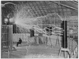 Nikola Tesla Produces Artificial 'Lighting' Impressão fotográfica