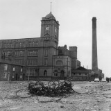 Exterior View of the Firs Mill Textile Factory, Leigh, Lancashire Photographic Print by Henry Grant