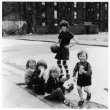 Group of Girls in an East Glasgow Street, Scotland Photographic Print by Henry Grant