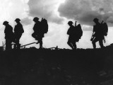 Silhouetted British Troops on the Horizon Photographic Print by Robert Hunt